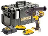 DeWalt DCD995D2 18V XR 3 Speed Brushless Combi Drill - 2 x 2.0Ah Battery Kit in DS300 Kitbox